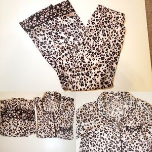 Victoria secret leopard print pajama set XS
